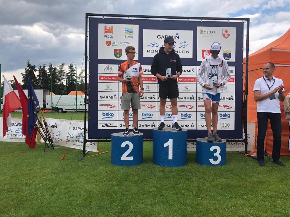 Bastian podium Garmin Triathlon Chodziez